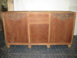 French Art Deco Sideboard large  Buffet  Server  Credenza ( pair avail.)