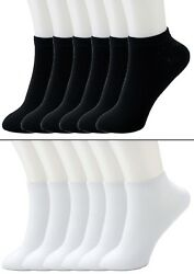 New Lot 6-12 Pairs Mens Womens Ankle Socks Cotton Low Cut Casual Size 9-11 10-13 $7.04