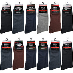 New 12 Pairs Mens Dress Socks Fashion Casual Crew Multi Color Cotton Size 10 13 $13.99