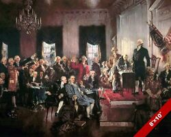 SIGNING THE US CONSTITUTION UNITED STATES HISTORY OIL PAINTING PRINT ON CANVAS