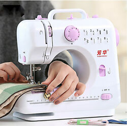 Portable Mini Electric Sewing Machine with LED Light Power Supply Foot Pedal