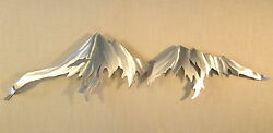 Mountain Range Rocky Mountains Metal Wall Art Home Decor Log Cabin Lodge Woods