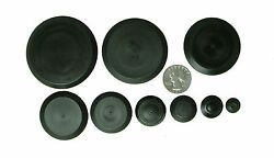 50 Piece Flush Mount Black Hole Plug Assortment Auto Body Sheet Metal 1 4quot; 2quot;