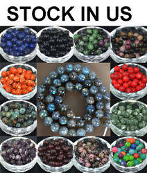 Wholesale Lot Natural Stone Gemstone Round Spacer Loose Beads 4MM 6MM 8MM 10MM $4.89