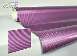 Purple carbon fiber (3 layer texture) gloss tech art 50ft x 5ft vinyl car wrap