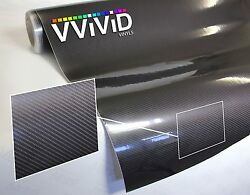 Dark grey carbon fiber (not printed) gloss tech art 50ft x 5ft vinyl car wrap