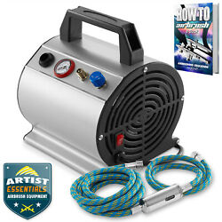 PointZero 1 6 HP Airbrush Compressor w Internal Tank and 6 Ft. Hose $66.99