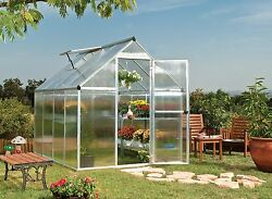 Palram 6' x 8' Mythos Hobby Greenhouse Kit - Silver (model HG5008)
