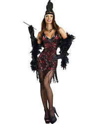 Morris Costumes Women's Polyester Ostrich Feather 1920's Style Dress. RL8812MD