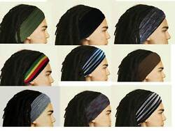 Mens Headband Dreadband Head Scarf Turban Dreadlock Wrap Mens Hair Accessories $6.90