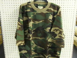 Camouflage Camo SS T Shirt Waffle Knit Big Mens TEE 4X WOODLAND Brand New n Pack $10.99