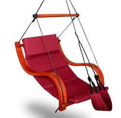 New Deluxe Hammock Air Chair Burgundy Padded Hanging Chair Lounge Outdoor Patio
