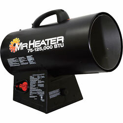 Mr Heater Portable Propane Forced Air Heater wQuiet Burn Technology MH125FAV