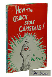 SIGNED How the Grinch Stole Christmas ~ DR. SEUSS ~ First Edition ~ 1st DJ 1957