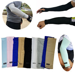 1 Pair Cooling Arm Sleeves Cover UV Sun Protection Outdoor Sports For Men Women $5.99