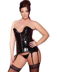 Morris Costumes Women's Vinyl Tiffany Corset With G-String XLarge. AU113277XL