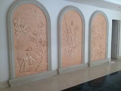 Wall Mural Plaster Relief Cherubs Architectural Decour Design Elements