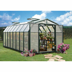 Rion Hobby Gardner 2 Twin-Wall Greenhouse - 8ft. x 16ft. Model# HG7116