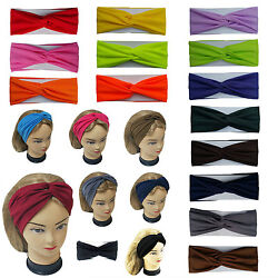 Twisted Hair Wrap Yoga Headband Stretchable Turban Hairband Fashion Solid Color $5.39
