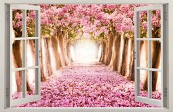 3D Effect Window WALL STICKERS Flowers Forest Sticker Art Vinyl Decor Mural 44 $8.99