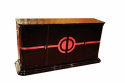 Art Deco Sideboard  New Yorker Chrome Liner