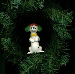 Dalmatian puppy ear muffs figure Disney custom themed Christmas tree ornament
