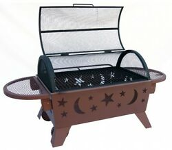 Outdoor Wood Metal Stove Fire Patio Garden Firepit Pit Cover Backyard Fireplace