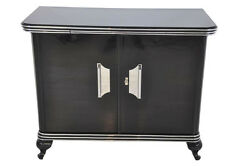 Small Art Deco Chest of drawers with sizes Chrome handles