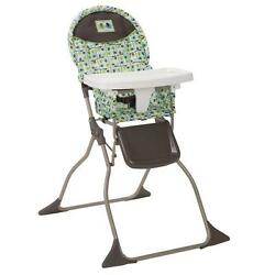 New Cosco Plastic 50 lbs Multi-Color Simple Fold High Chair in Elephant Squares