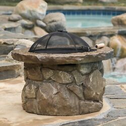 Outdoor Natural Stone Finish Fire Pit