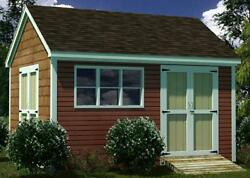 12x16 Shed Plans- How To Build Guide - Step By Step - Garden  Utility  Storage