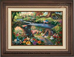 Thomas Kinkade Alice in Wonderland 18 x 27 Estate Edition Canvas (Framed) Disney