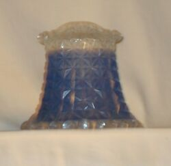 VINTAGE REPLACEMENT SHADE CRYSTAL W BLUE $45.00