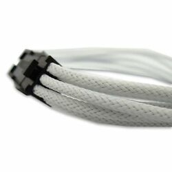 GeLid CA 6P 02 12quot; 6 Pin PCIe Cable White Sleeved UV Reactive $10.29