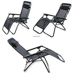 2PCS Folding Garden Beach Camping Outdoor Chair  Daybeds Chairs