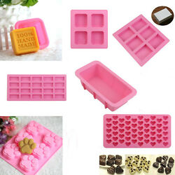 Silicone Ice Cube Candy Chocolate Cake Cookie Cupcake Soap DIY Mold Crafts