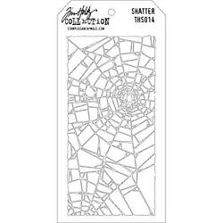 Scrapbooking Crafts Tim Holtz Layered Stencil Shatter 4.125 X 8.5 $5.99