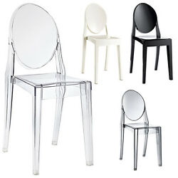 Acrylic Chair Transparent Armless Dining Chair Side Chair Modern Plastic COLORS