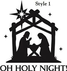 Oh Holy Night Nativity Decal sticker for DIY 8