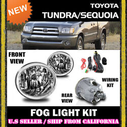 for TOYOTA 01-07 TUNDRA SEQUOIA Fog Lights Driving Lamp Kit switch wiring $59.95