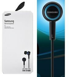 SAMSUNG SHE-D10BB In-Ear Headphones Premium Sound SHED10 BlueBlack GENUINE