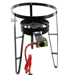 Burner w Stand Heavy Duty Metal Steel for Comal Propane Gas Regulator Cazo