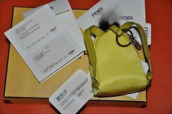 AUTHENTIC RUNWAY NEW FENDI MONSTER BACKPACK BAG BUGS CHARMYellow color