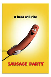 Sausage Party Film Movie Teaser Poster New Maxi Size 36 x 24 Inch $18.00
