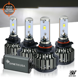 9005+9006 Combo CREE LED Headlight Kit High & Low Beam 240W 24000LM Light Bulbs