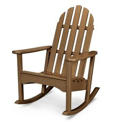 POLYWOOD ADRC100TE Classic Adirondack Outdoor Rocking Chair