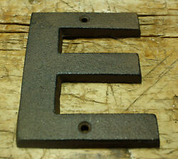 Cast Iron Industrial LETTER E Sign Rustic Brown 5quot; tall Alphabet $6.99