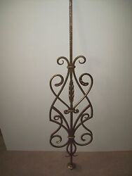WROUGHT IRON STAIRS SPINDLES FOR RAILING ART WORK HANDCRAFTED 10 Pc 47''x 12''