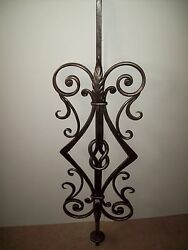 WROUGHT IRON STAIRS SPINDLES FOR RAILING ART WORK HANDCRAFTED 10 Pc 42''x 12''