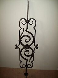 WROUGHT IRON STAIRS SPINDLES RAILING ART WORK HANDCRAFTED 10 Pcs 46''x 12'' NEW